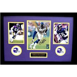 "Chris Doleman Signed Vikings 16x26 Custom Framed Photo Display Inscribed ""HOF 12"" (Radtke COA)"