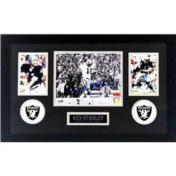 Ken Stabler Signed Raiders 16x26 Custom Framed Photo Display (Radtke COA  Stabler Hologram)
