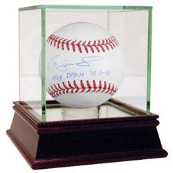 "Gary Sanchez Signed Baseball Inscribed ""MLB Debut 10-3-15"" (Steiner COA  MLB)"