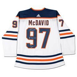 "Connor McDavid Signed LE Oilers Jersey Inscribed ""#1 Pick 2015"" (UDA COA)"