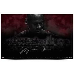"""Michael Jordan Signed LE Bulls """"City Of Big Shoulders"""" 25x40 Photo (UDA COA)"""