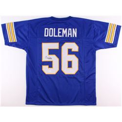 "Chris Doleman Signed Pittsburgh Panthers Jersey Inscribed ""HOF 12"" (JSA COA)"