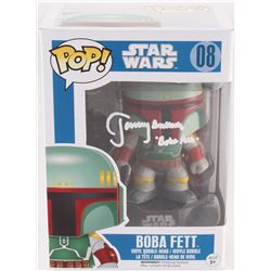 "Jeremy Bulloch Signed ""Boba Fett"" #08 Star Wars Funko Pop Bobble-Head Vinyl Figure Inscribed ""Boba F"