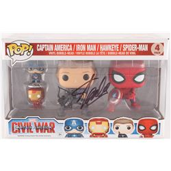 "Stan Lee Signed Captain America: Civil War ""Captain America / Iron Man / Hawkeye / Spider-Man"" 4 Pac"