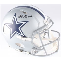 Roger Staubach Signed Cowboys Full-Size Authentic On-Field Speed Helmet (JSA COA)