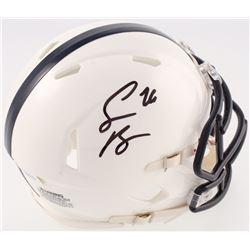 Saquon Barkley Signed Penn State Nittany Lions Mini  Speed Helmet (JSA COA)