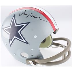 Roger Staubach Signed Cowboys Throwback Suspension Full-Size Helmet (JSA COA)