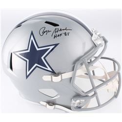 "Roger Staubach Signed Cowboys Full-Size Speed Helmet Inscribed ""HOF '85"" (JSA COA)"