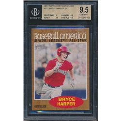 2011 Topps Heritage Minors #211 Bryce Harper SP (BGS 9.5)