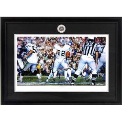 """Steve Skipper Collection """"Undeniable"""" 16x19 Custom Framed Ken Stabler Oakland Raiders Commemorative"""