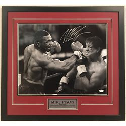 Mike Tyson Signed 23x29 Custom Framed Photo (JSA COA)