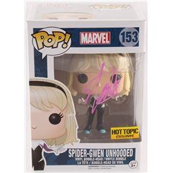 "Stan Lee Signed ""Spider-Man"" #153 Spider-Gwen Unhooded Funko Pop! Bobble-Head Figure (Lee Hologram)"