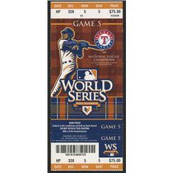 San Francisco Giants World Series Game 5 Ticket vs. Texas Rangers