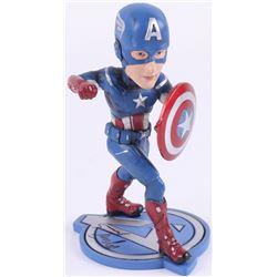 "Stan Lee Signed ""Captain America"" 7"" Bobblehead (Radtke Hologram  Lee Hologram)"