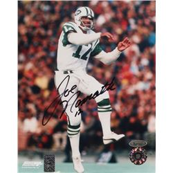 Joe Namath Signed Jets 8x10 Photo (TriStar Hologram  Namath Hologram)
