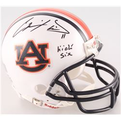 "Chris Davis Jr. Signed Auburn Tigers Mini-Helmet Inscribed ""Kick Six"" (Radtke COA)"
