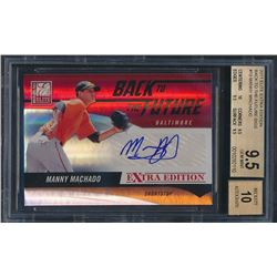 2011 Donruss Elite Extra Edition Back to the Future Signatures #19 Manny Machado (BGS 9.5)