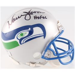 "Warren Moon Signed Seahawks Throwback Mini Helmet Inscribed ""HOF 06"" (Radtke COA)"