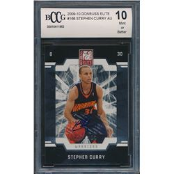 2009-10 Donruss Elite #166 Stephen Curry AU RC (BCCG 10)