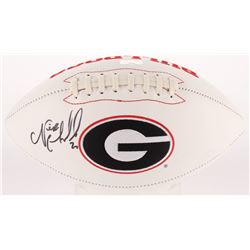 Nick Chubb Signed Georgia Bulldogs Logo Football (Radtke Hologram)