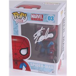 "Stan Lee Signed ""Spider-Man"" #03 Marvel Funko Pop Bobble-Head Vinyl Figure (Radtke COA)"