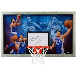 Ben Simmons Signed 18.5x30.5 Acrylic Backboard Display (UDA COA)