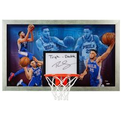 "Ben Simmons Signed LE 30.5x18.5 Acrylic Backboard Display Inscribed ""Triple-Double"" (UDA COA)"