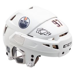 Connor McDavid Signed Oilers Helmet (UDA COA)