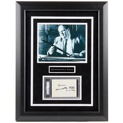 "Rudolf Wanderone Signed ""Minnesota Fats"" 23x27 Custom Framed Cut Display (PSA Encapsulated)"