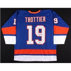 """Bryan Trottier Signed Islanders Jersey Inscribed """"HOF '97"""" (JSA COA)"""