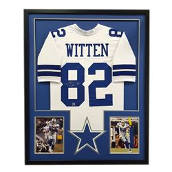 Jason Witten Signed Cowboys 34x42 Custom Framed Jersey (Witten Hologram)