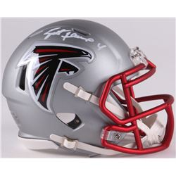 Brett Favre Signed Falcons Mini Blaze Speed Helmet (Radtke COA)