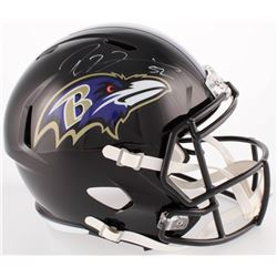Ray Lewis Signed Ravens Full-Size Speed Helmet (Beckett COA)