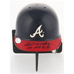 "Dale Murphy Signed Braves Mini Batting Helmet Inscribed ""NL MVP 82, 83"" (JSA COA)"