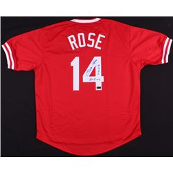 "Pete Rose Signed Reds Jersey Inscribed ""4256""  ""Hit King"" (Radtke COA)"