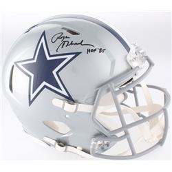 "Roger Staubach Signed Cowboys Full-Size Authentic On-Field Speed Helmet Inscribed ""HOF '85"" (JSA COA"