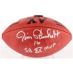 "Jim Plunkett Signed Official NFL Super Bowl XV Logo Game Ball Inscribed ""S.B. XV MVP"" (Radtke COA)"