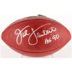 "Jack Lambert Signed Official NFL Super Bowl XIV Logo Game Ball Inscribed ""HOF '90"" (Radtke COA)"