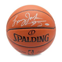 Larry Johnson Signed Basketball (UDA COA)