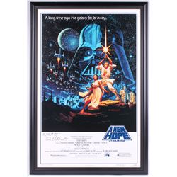 "Greg Hildebrandt  Tim Hildebrandt Signed ""Star Wars: A New Hope"" 15th Anniversary 30x45 Custom Frame"