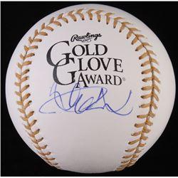 Ichiro Suzuki Signed Gold Glove Award Baseball (PSA COA)