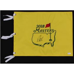 Patrick Reed Signed 2018 Masters Tournament Pin Flag (JSA COA)