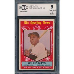 1959 Topps #563 Willie Mays All Star (BCCG 9)