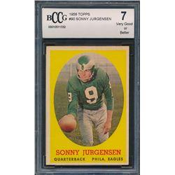 1958 Topps #90 Sonny Jurgensen RC (BCCG 7)