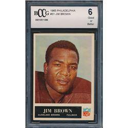1965 Philadelphia #31 Jim Brown (BCCG 6)