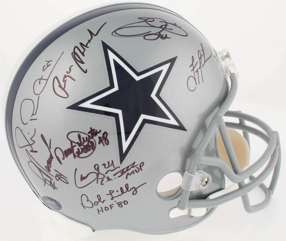 low priced e1975 4ff0c Image 1   Dallas Cowboys Greats Team-Signed Full-Size Helmet with (23