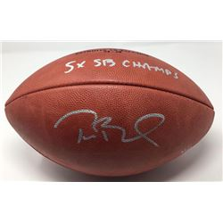 """Tom Brady Signed Super Bowl 51 Limited Edition """"The Duke"""" NFL Official Game Ball Inscribed """"5x SB Ch"""
