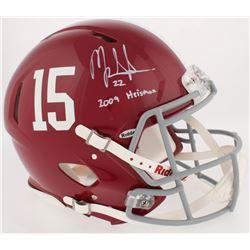 "Mark Ingram Signed Alabama Crimson Tide Full-Size Authentic On-Field Speed Helmet Inscribed ""2009 He"