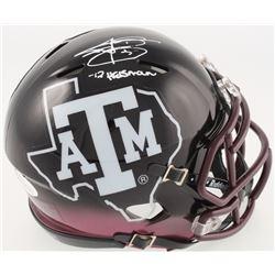 "Johnny Manziel Signed Texas AM Aggies Speed Mini-Helmet Inscribed ""'12 Heisman"" (JSA COA)"