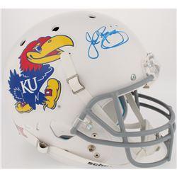 John Riggins Signed Kansas Jayhawks Full-Size Helmet (JSA COA)